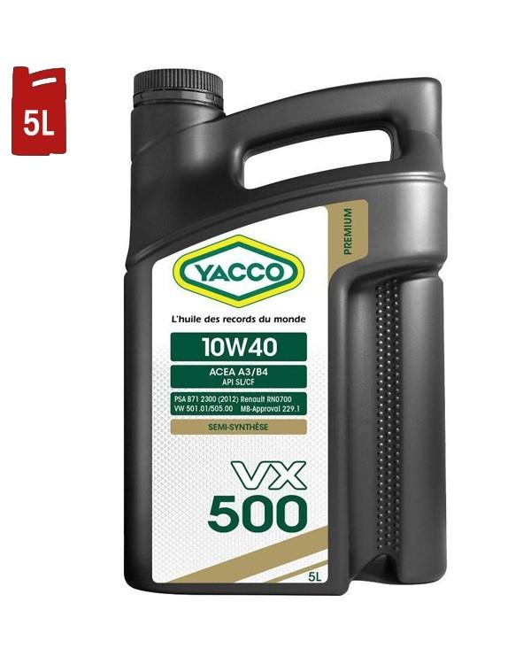 Huile Moteur YACCO VX 500 10W40