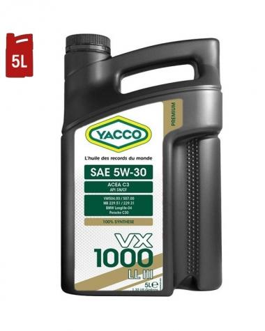 Huile Moteur YACCO VX 1000 LL III 5W30 C3