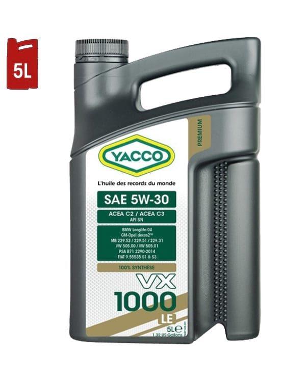 Huile Moteur YACCO VX 1000 LE 5W30 C2/C3